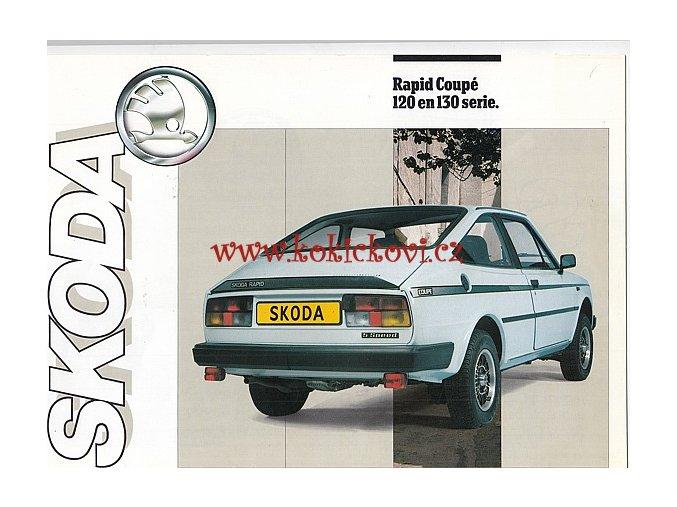 Škoda Rapid Coupé 120 / 130 - prospekt A4 - 8 stran - pěkný stav