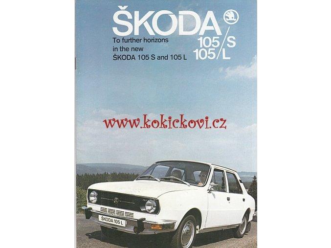 ŠKODA 105 S, 105 L - PROSPEKT - MOTOKOV - TEXTY ANGLICKY