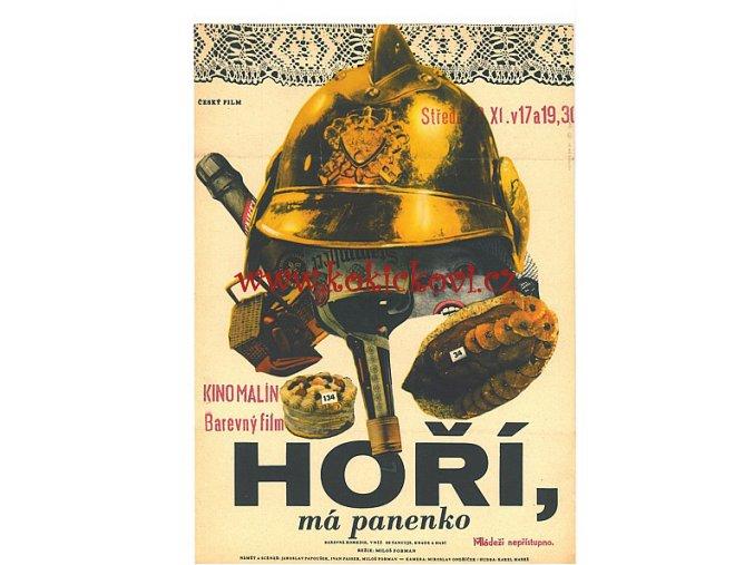FILMOVÝ PLAKÁT A3 - HOŘÍ, MÁ PANENKO (POZOR VYDÁNÍ 1967, NE 1988)