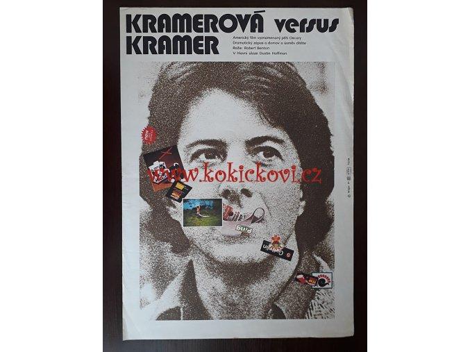 FILMOVÝ PLAKÁT A3 - KRAMEROVÁ VERSUS KRAMER - DUSTIN HOFFMAN