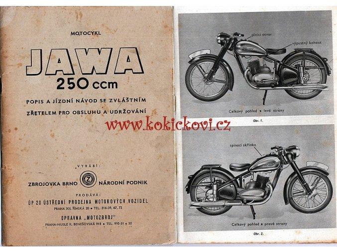 JAWA 250 ccm pérák - popis a jízdní návod - ZBROJOVKA Brno
