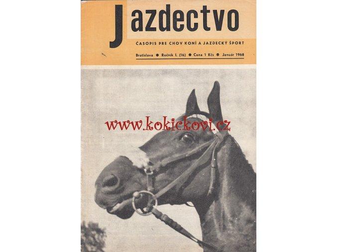 Jazdectvo 1-12 (1968) - časopis pre chov koní a jazdecký šport  - unikátní komplet KRÁSNÝ STAV