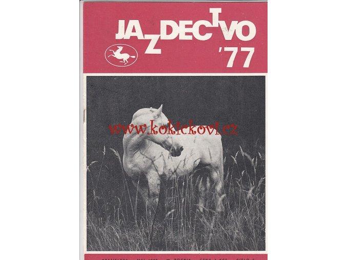 Jazdectvo 1-12 (1977) - časopis pre chov koní a jazdecký šport  - unikátní komplet KRÁSNÝ STAV