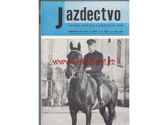 Jazdectvo 1-12 (1969) - časopis pre chov koní a jazdecký šport  - unikátní komplet KRÁSNÝ STAV