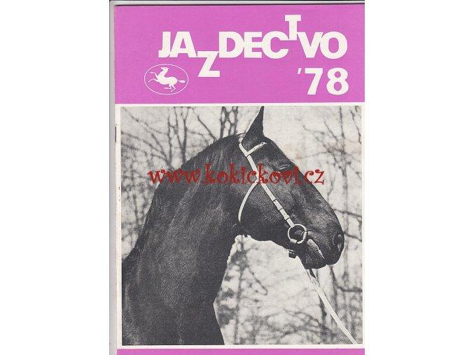 Jazdectvo 1-12 (1978) - časopis pre chov koní a jazdecký šport  - unikátní komplet KRÁSNÝ STAV