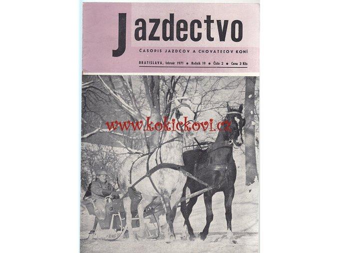 Jazdectvo 1-12 (1971) - časopis pre chov koní a jazdecký šport  - unikátní komplet KRÁSNÝ STAV