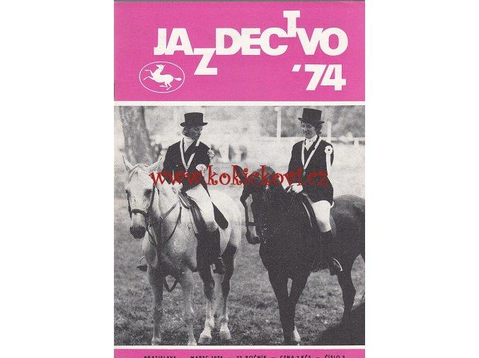 Jazdectvo 1-12 (1974) - časopis pre chov koní a jazdecký šport  - unikátní komplet KRÁSNÝ STAV