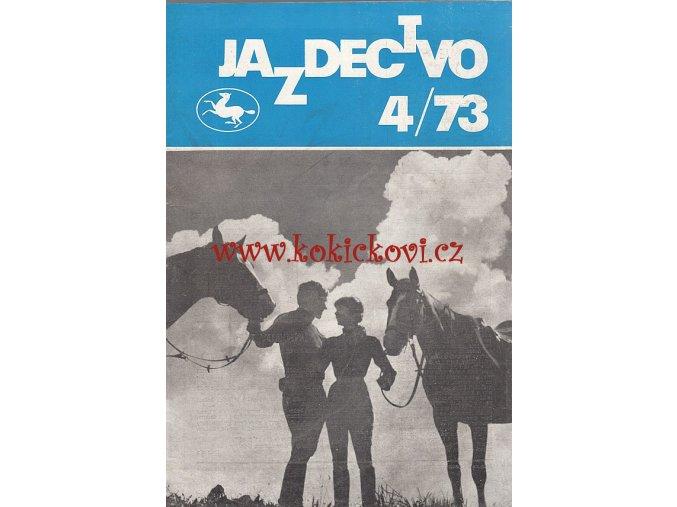Jazdectvo 1-12 (1973) - časopis pre chov koní a jazdecký šport  - unikátní komplet JEZDECTVÍ