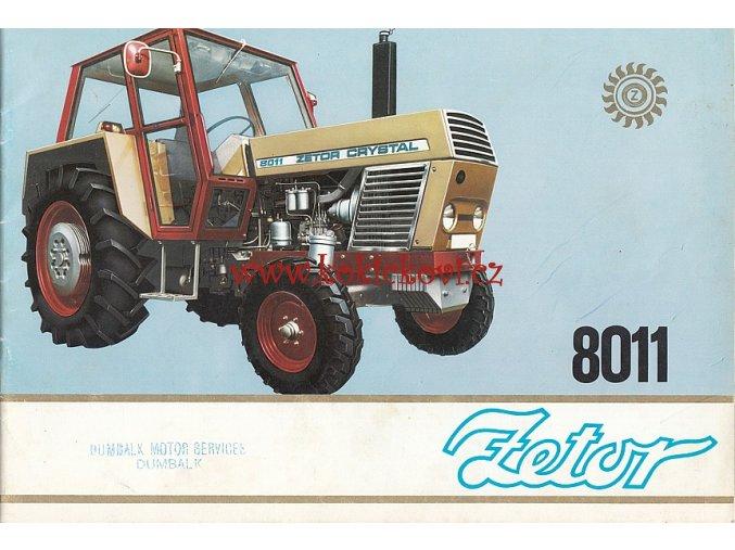 Zetor 8011 - Motokov - reklamní prospekt / brožura A4 - 24 stran - MOTOKOV 197?