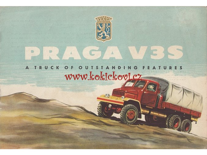 PRAGA V3S - Motokov - reklamní prospekt / brožura A4 - 8 stran - MOTOKOV 1957