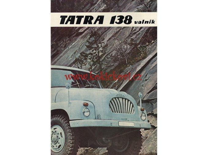 TATRA 138 VALNÍK - Motokov - reklamní prospekt / brožura A4 - 8 stran - MOTOKOV 1965