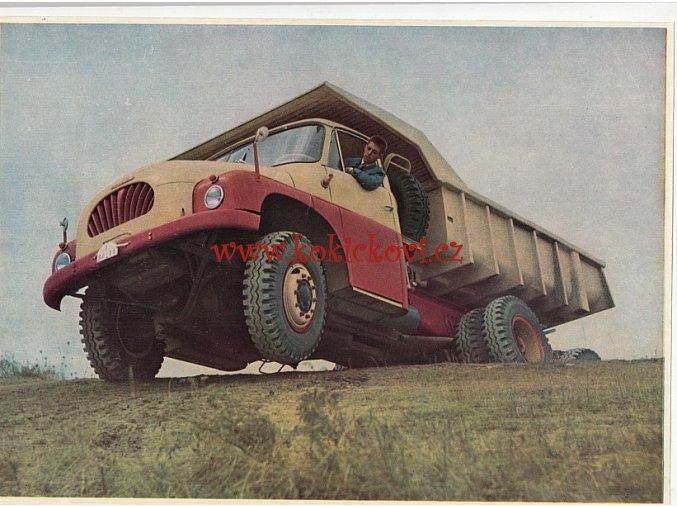 TATRA 138 - reklamní leták - kolorovaná fotografie - A4