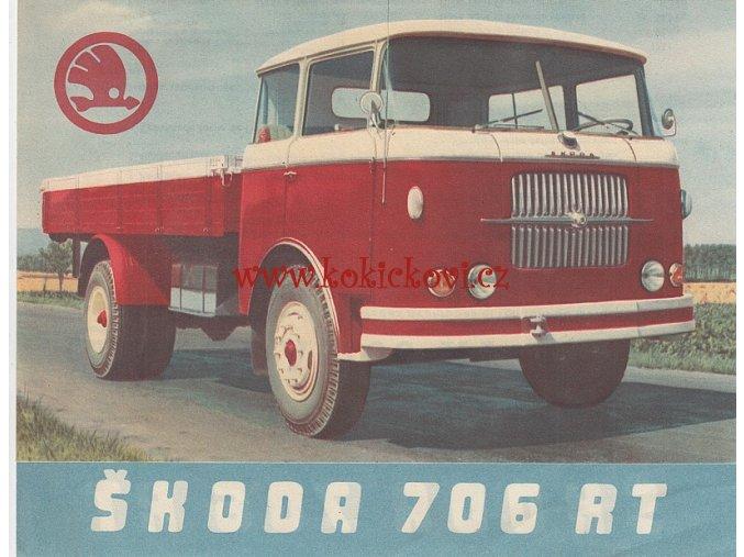 Škoda 706 RT - reklamní prospekt - Motokov - francouzsky -A5