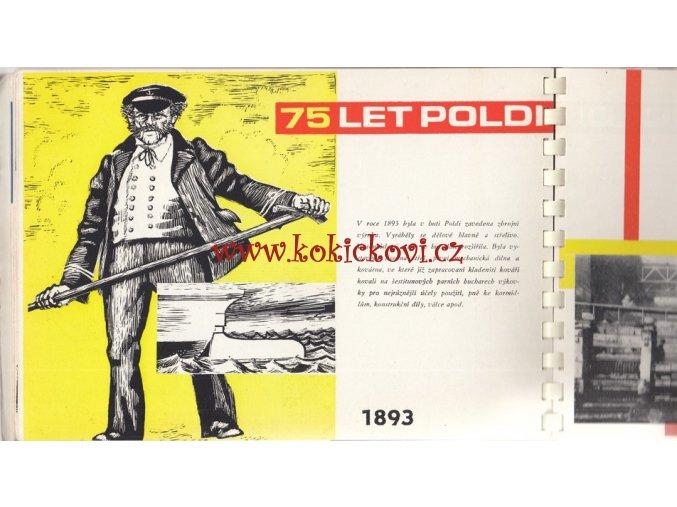 POLDI - výrobní program + historie 1889-1964 - ilustrace HUGO KRATOŠKA - TYPO BRUSEL