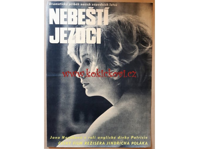 FILMOVÝ PLAKÁT A3 - NEBEŠTÍ JEZDCI -1968 - DEKORACE DO MUZEA RAF