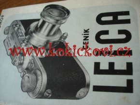 CENÍK LEICA ČERVEN 1938 V ČEŠTINĚ 20 STRAN