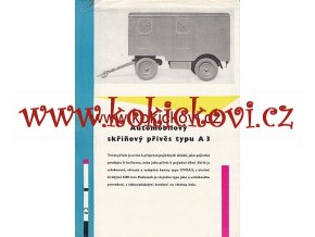 AUTOMOBILOVÝ VALNÍKOVÝ PŘÍVĚS A3 PROSPEKT A4