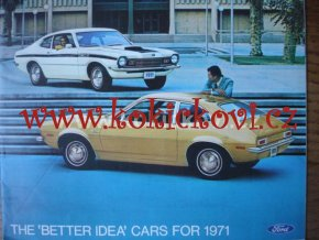 Automobily FORD KATALOG 1971 ANGLICKY