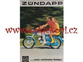 MOTOCYKLY ZUNDAPP C 50 SUPER > SPORT REKL. LETÁK A4