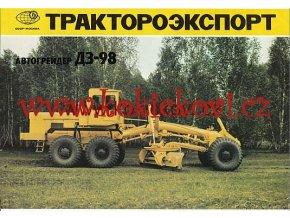 AUTOMOBILOVÝ GRADER DZ - 98 REKL. PROSPEKT TRAKTOEXPORT SSSR 197