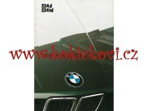 BMW 524d 524td  PROSPEKT NĚMECKY A4 32 STRAN 1986