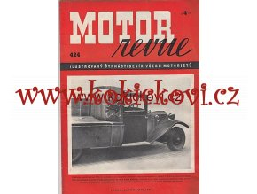 MOTOR REVUE - 1941 - ROČNÍK XX., ČÍSLO 424