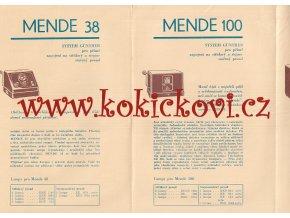 PROSPEKT ROK 1931 RADIO MENDE  38 MENDE  50