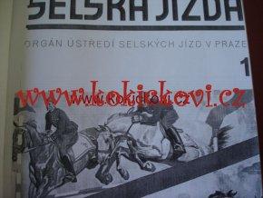 ČASOPIS SELSKÁ 1. ROČNÍK JÍZDA 1937 XEROKOPIE