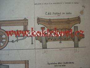 KOLÁŘSTVÍ BAREVNÁ LITOGRAFIE TĚŽKÝ VALNÍK 1923