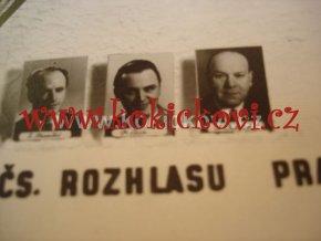 HLASATELÉ A INSPEKTOŘI ČS ROZHLASU 1947 PODPISY