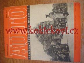 AUTO - ČASOPIS ČS. MOTORISTŮ ČÍSLO B2 ÚNOR 1946