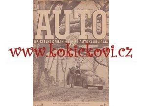 AUTO - ČASOPIS ČS. MOTORISTŮ ČÍSLO 9 ZÁŘÍ 1947