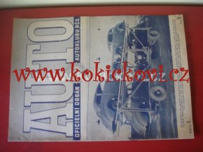 AUTO - ČASOPIS ČS. MOTORISTŮ ČÍSLO LEDEN 1947