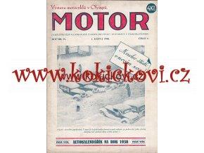 ČASOPIS MOTOR Č.1/1930 KOMPLETNÍ CENA A STAV VIZ POPIS