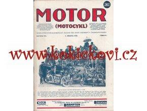 ČASOPIS MOTOR Č.5/1928 KOMPLETNÍ CENA A STAV VIZ POPIS motocykl