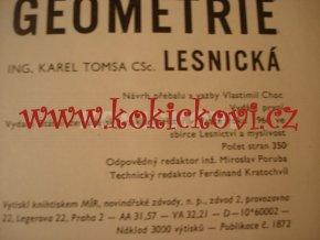 GEOMETRIE LESNICKÁ