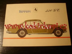 FERRARI 330 GT POHLEDNICE MALÍŘ ANDZEJ HEIDRICH