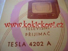 TELEVIZNÍ PŘIJÍMAČ TESLA 4202 A BROŽ A5