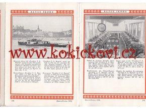 REVUE ŠKODA 1933 VLEČNÁ LOĎ T.G. MASARYK  PARNÍK KVAN TSIN AJ.