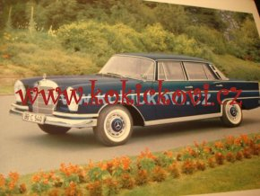 MERCEDES BENZ 300 SE  ORIGINAL BROCHURE 196?