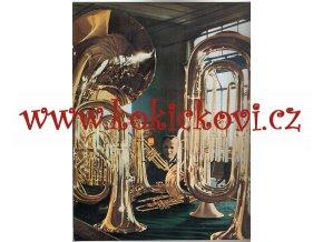 BAREVNÝ KATALOG LIGNATONE KRASLINE HUDEBNÍ NÁSTROJE - flétny - saxofon - lesní roh - bicí