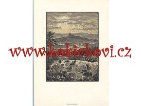 TROSKY OD VÝCHODU KAREL VIK BAREVNÝ DŘEVORYT 1954