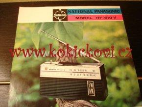 RADIO NATIONAL PANASONIC MODEL RF-610 V PROSPEKT A4