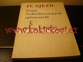 IV. SJEZD SVAZU ČS. SPISOVATELŮ 1967 KUNDERA HAVEL KLÍMA HÁJEK