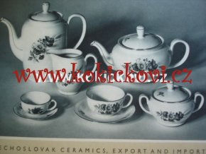 KATALOG CZECHOSLOVAK CERAMICS HOUSE-HOLD PORCELAIN