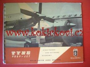 ROLLS ROYCE AERO ENGINES TYNE PROP - JET LETECKÉ MOTORY 1959