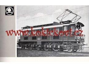 Elektrische Lokomotiven Škoda Reklamní brožura lokomotiv