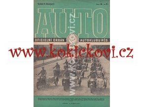 AUTO - ČASOPIS ČS. MOTORISTŮ ČÍSLO A10 ŘÍJEN 1946
