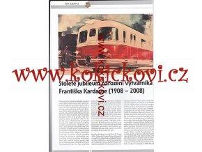 Stoleté Jubileum narození výtvarníka František Kardaus in SVĚT VELKÉ I MALÉ ŽELEZNICE 4/2008