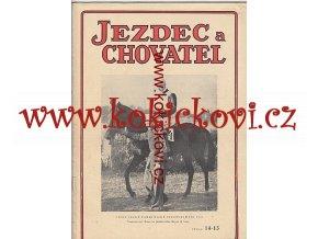 JEZDECKÝ ČASOPIS ROK 1948 DVOJČÍSLO 14-15